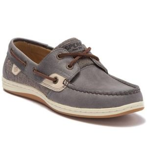 Sperry Koifish Sparkle Slate Boat Shoes Size 6